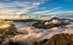 Góry, Wulkan, Erupcja, Chmury