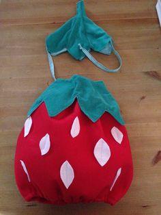 Süße Erdbeere aus bunten Vlies .