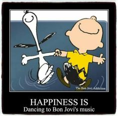 dancing to BON JOVI'S music
