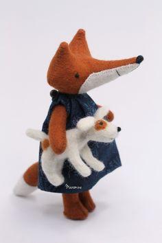 felty fox and dog