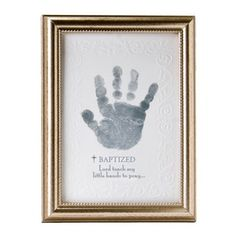 The Grandparent Gift Co. Growing in Faith Handprint Frame, Baby Dedication by The Grandparent Gift Co. Christening Party, Baptism Party, Baptism Ideas, Boy Baptism Decorations, Baptism Cupcakes, Baptism Pictures, Baby Party, Dedication Ideas, Baby Dedication Gifts