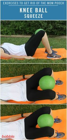 Knee ball squeeze start with 10-15 and build up to 20