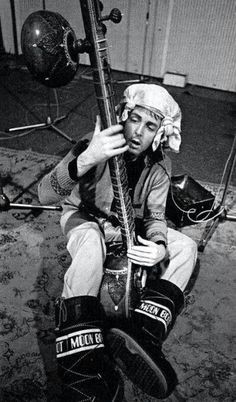 Paul McCartney playing sitar in MoonBoots