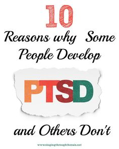 10 Reasons Why Some People Develop PTSD and Others Don't - PTSD, or Post Traumatic Stress Disorder, is something that most of us are aware of. It is a mental illness resulting from trauma, whose symptoms include flashbacks to traumatic events, avoidance o Stress Disorders, Anxiety Disorder, Infp, Panic Attack Treatment, Ptsd Quotes, Ptsd Symptoms, Test Anxiety, Ptsd Awareness, Amor