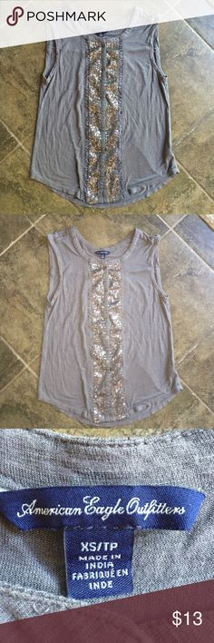 American Eagle outfitters sleeveless shirt Gently used, great condition. American Eagle Outfitters Tops Tank Tops