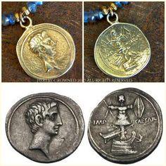 Julius Necklace Ancient Rome Julius Caesar Labradorite