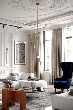 Classic Living Room, Luxury Living Room, Neoclassical Interior, Minimalist Living Room, Room Interior, Interior Design, Luxury Interior, Minimalist Living Room Design, Parisian Interior