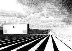 Denis Andernach houses for landscapes, landscapes of houses