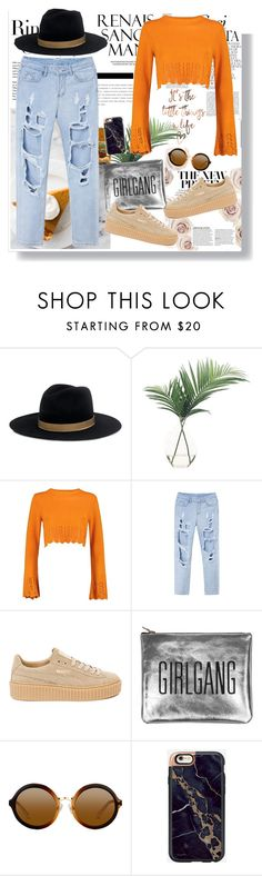 """""""Orange in Fall"""" by fashionfreakforlife on Polyvore featuring Tiffany & Co., Whiteley, Janessa Leone, NDI, Boohoo, Puma, Sarah Baily, casualoutfit, polyvoreeditorial and Fall2016"""