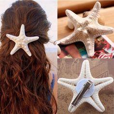 Cute starfish hair clip. Ships within 1.5 weeks. King Accessories Hair Accessories