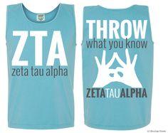 ZTA Throw Tank | Boutique Greek