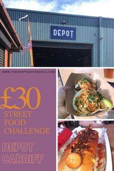 What Can £30 Get You at Depot Street Food Social, Cardiff? Cardiff's safest event is here. I review the covid-19 measures, food, traders, venue and what £30 can get you at Street Food Social in Depot, Cardiff. I did this challenge and got lush, local food in Cardiff. If you want something to do in Cardiff, visit Depot for Street Food Social. All info, how to get there, how to get tickets and what to expect is included in this article. #VisitCardiff #VisitWales #StreetFoodMarket… Street Food Market, Best Street Food, Amazing Destinations, Travel Destinations, Pork Belly Bao, Visit Cardiff, Travel Around The World, Around The Worlds, Bacon Dog