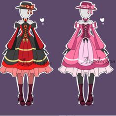 Victorian Outfits Adoptable CLOSED by AS-Adoptables on @DeviantArt
