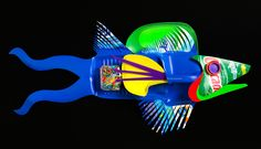Shadetree Studios : David Edgar, artist | Plastiquarium - fish series created from laundry detergent bottles