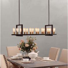 Griffin Rectangular 14-light Chandelier - Overstock™ Shopping - Great Deals on Chandeliers & Pendants