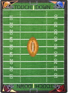 Joy CarpetsKid EssentialsFootball Fun Rug