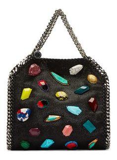 a2d7fb9aa00 Multi Gem Tote Suede Tote Bag, Novelty Bags, Fall Handbags, Interior Logo,