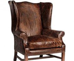 Daddy öronlappsfåtölj i vintage läder » Artwood » Varumärken - Kila Möbler