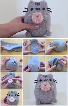 How to Make Pusheen and Donut Plush | UsefulDIY.com Kawaii Cat Cuties