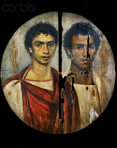 -Fayum portraits perfectly represent Greek settlers and Romans who intermarried with local Egyptians (Africans).