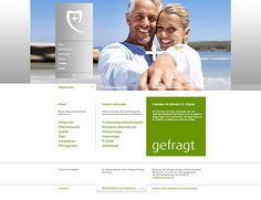 meurer-palazis.de - Everything one can do for a dentist website that's so elegant and clean: Meurer Palazis Zahnheilkunde - designed by Wadim Kahlkopf, via Behance
