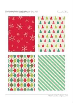 Free Printable Christmas Journal Cards