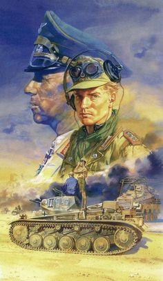 Mémores ígitur Johannes Erwin Eugen Rommel... German Soldiers Ww2, German Army, Military Art, Military History, Afrika Corps, Gravure Illustration, Erwin Rommel, Propaganda Art, Germany Ww2