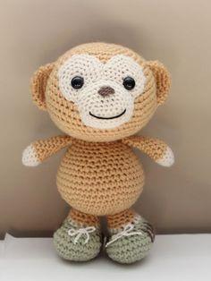 Amigurumi Monkey with sneakers. $39.00, via Etsy.