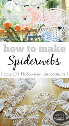 Fill up on fun with these simple coffee filter spider webs!