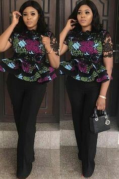 Collection of the most beautiful and stylish ankara peplum tops of 2018 every lady must have. See these latest stylish ankara peplum tops that'll make you stun African Fashion Ankara, Ghanaian Fashion, Latest African Fashion Dresses, African Print Dresses, African Print Fashion, African Dress, Africa Fashion, Ankara Peplum Tops, Ankara Skirt And Blouse