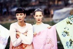 June 1994  She was photographed alongside Christy Turlington by Arthur Elgort for the June 1994 issue of Vogue.