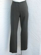 Eileen Fisher size M dark olive green skinny ankle cigarette pants stretch