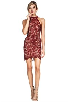 Combined Laced Bodycon Dress (more colors)