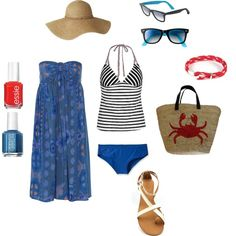 A Day at the Beach, created by lauren-kay-miller on Polyvore