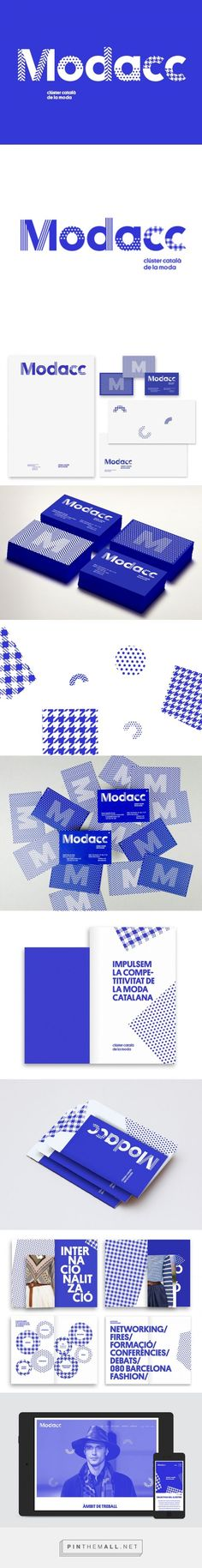 Royal blue MODACC Brand identity