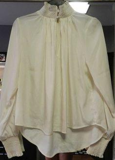 Kup mój przedmiot na #vintedpl http://www.vinted.pl/damska-odziez/koszule/14395892-hm-bluzka-kremowa-ze-stojka-vintage-nowa-z-metka-36