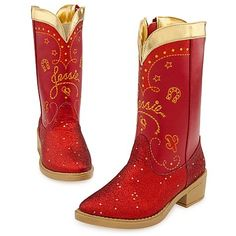 Disney Store Toy Story 3 Red Sparkle Jessie Boots Size 7/8 *** Visit the image link more details.