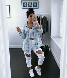 most popular outfits ideas with ripped jeans for summer 25 ~ my.me Source by carmenindhira outfits ideas everyday Dope Outfits, Trendy Outfits, Fall Outfits, Summer Outfits, Popular Outfits, Boujee Outfits, Jean Outfits, Polyvore Outfits, Teen Fashion