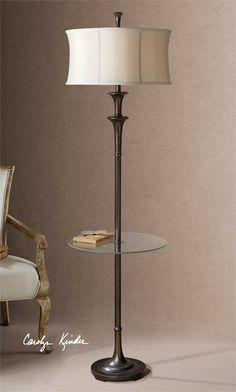 Uttermost Brazoria End Table Floor Lamp