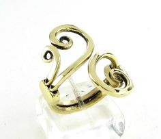 Spiral Ring, Brass Wire Jewerly, Artisan Jewelry, Open Band Ring, Ancient Greek, Jewelry