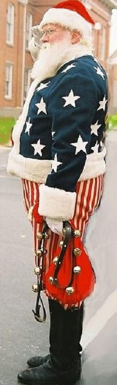 Patriotic Santa Claus, Gettysburg, Pennsylvania, USA