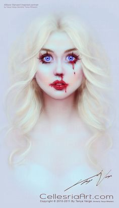 ANTM- allison harvard. I remember her saying that she thought nose bleeds were pretty.