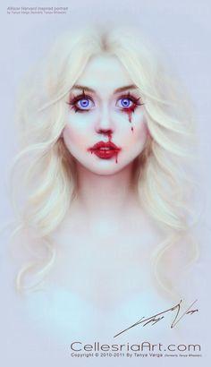 Allison Harvard inspired portrait by ~Cellesria on deviantART