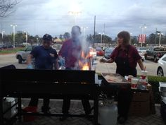Red Robin grilling for our New Owner Clinic. http://fredhaastoyotacountry.com
