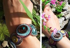 Different take on the button bracelet