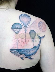 Amazing whale tattoo by Jan Mraz. Such a great idea :)