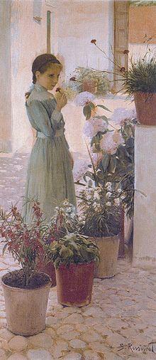 Santiago Rusiñol. La nena de la clavellina, 1893. Museu Cau Ferrat, Sitges