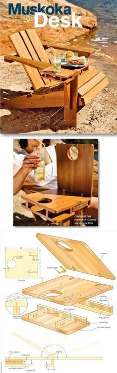 Making Adirondack Chair Desk - Outdoor Furniture Plans & Projects | WoodArchivist.com