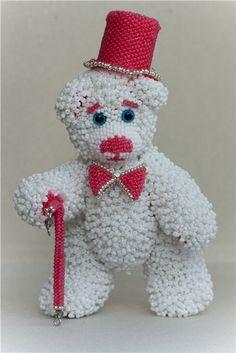 Мастер-класс Медведь Леонард | biser.info - всё о бисере и бисерном творчестве
