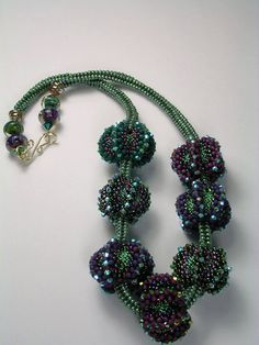 Beached Sea Urchins Bead Woven Necklace by 4uidzne on Etsy, $350.00